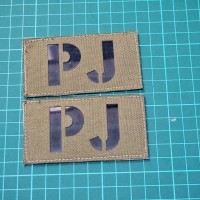 PJ, us flag, texas & morale patch
