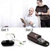 Bifocal Kacamata Baca / Pembesar Baca Lipat untuk Orang Tua-Elegan