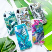 FLORAL Case Soft Acrylic iPhone 6 6 7 7 8 8 X Oppo A7 A3S F9 F1S F3
