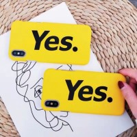 YesNo Case Softcase Fullcover HD printed All IPhone All Oppo Xiaomi