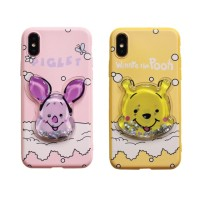Piglet Pooh Water Case softcase full cover ALL IPHONE OPPO XIAOMI