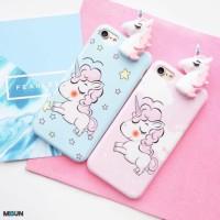Peeking Unicorn soft case full cover for iPhone OPPO F1s F3 F5