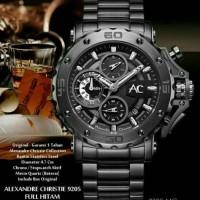 ALEXANDRE CHRISTIE AC9205 AC 9205 Jam Tangan Analog Pria FULL BLACK
