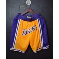 Celana Basket.LA LAKERS 1996-97.HARDWOOD CLASSICS.Swingman Shorts