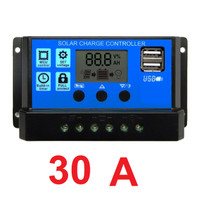 Solar Charge Controller 10A 20A 30A Cell PWM Pengisi Daya Surya 12V24V