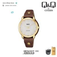 Q&Q QnQ QQ Original Jam Tangan Wanita Analog Leather - QB19 QB19J