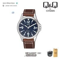 Q&Q QnQ QQ Original Jam Tangan Pria Analog Leather - QB12 QB12J