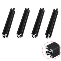 4pcs/lot BLACK 2020 Aluminum Profile European Standard Anodized