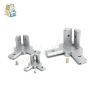 4pcs T Slot L-Shape 2020 3030 4040 Aluminum Profile Interior 3-way
