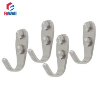 4pcs Stainless Steel Hook Hanger Heavy Duty Coat Hooks On the Wall