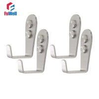 4pcs Stainless Steel Hanger Hooks Heavy Duty Household Coat Hat Wall