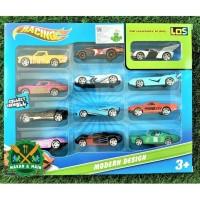 2168 Mainan Anak Diecast Miniatur Mobil Racing Isi 12 pcs Per Set SNI