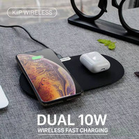 KIIP DUAL WIRELESS CHARGER PAD FAST CHARGING 10W