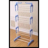 AY Stand Hanger Jemuran Baju Handuk 3 Tingkat Stainless Steel