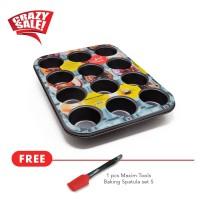 Maxim Bakeware 12 Cup Muffin Pan free silikon spatula