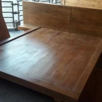 Ranjang kayu papan jati belanda elegan & eksotik harga terjangkau