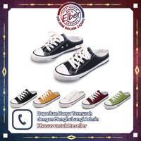 SHS002 Sepatu Fashion Wanita Tanpa Tutup Belakang Sepatu Sneakers