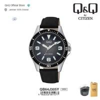 Q&Q QnQ QQ Original Jam Tangan Pria Analog Leather - QB64 QB64J