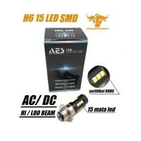 LAMPU LED H6 15 MATA LED SMD 3030 I BOHLAM H6 | LAMPU DEPAN MOTOR H6