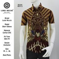 Kemeja Batik Lengan Pendek Kasual/Semi Formal Luigi Riccio