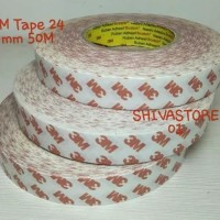 DOUBLE COATED TAPE TISSUE MERAH 3M 9007 24mm x 50 mtr