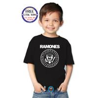 Kaos Band Anak Rock Ramones Anak cowok cewek