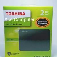 HDD EXTERNAL TOSHIBA 2TB CANVIO SATA GARANSI RESMI