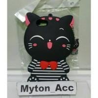 Case 4D 3D Cat Smile OPPO A71 New Boneka Costum Karakter Custom Soft S