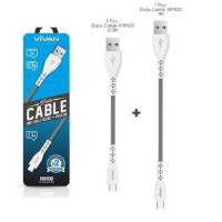 Kabel Data Vivan XM100 2.4A - 2in1 Micro Usb Data Cable - FD101