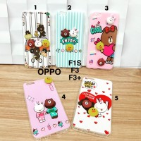 Soft case casing boneka timbul 3D connie brown sally oppo f1s f3 f3 pl