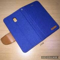 Sarung buku flip case samsung J3 Pro 2017 J330 - Canvas diary zagbox