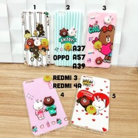 Soft case timbul 3D cony brown line sally oppo a37 a39 a57 redmi 3 4A