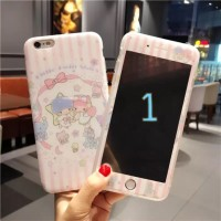 Case iphone Fullset Tempered glass Soft Case little twin star