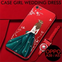 COD Oppo A57 A39 Case Wedding Girl Dress Slim Matte Softcase Back Oppo