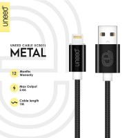 ORIGINAL Uneed Metal Lightning Cable 1M Kabel Charger Ipad iphone6 iph