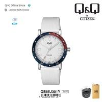 Q&Q QnQ QQ Original Jam Tangan Pria Analog Rubber - QB85 QB85J