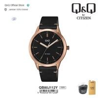 Q&Q QnQ QQ Original Jam Tangan Pria Analog Leather - QB80 QB80J