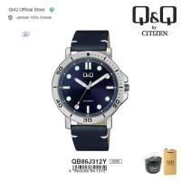 Q&Q QnQ QQ Original Jam Tangan Pria Analog Leather - QB86 QB86J