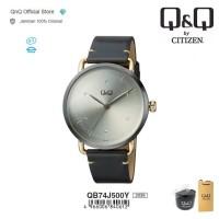 Q&Q QnQ QQ Original Jam Tangan Pria Analog Leather - QB74 QB74J