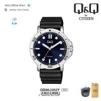 Q&Q QnQ QQ Original Jam Tangan Pria Analog Rubber - QB86 QB86J