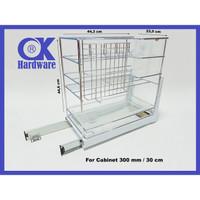 PROMO Rak Botol Rak Bumbu Drawer Basket OK 025P for Kitchen Cabinet