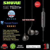 SHURE SE112m+ / SE112 m+ / SE 112 m+ Earphone with Microphone Original