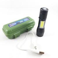 Senter Usb Mini XPE+ COB,Light Waterproof