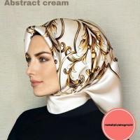 Jilbab Hijab Pashmina Kerudung Silk Satin impor malaysia - Cream Limi