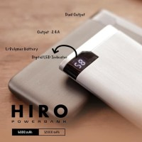 Hippo Power Bank Hiro 12000 Mah - Abu-Abu Termurah
