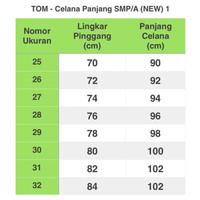 Seragam Tom - Celana Panjang Hitam - No 27 Harga Promo