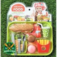 8802 19 Mainan Anak Food Set Miniatur Makanan Table Ware SNI Masakan