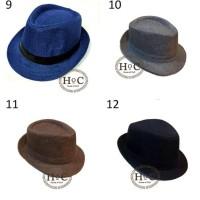 Topi Fedora Panama Hat Jazz Koboy Hat Topi Pantai Flux Banyak Warna -