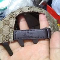 Grosir Topi Gucci Import Al Ghazali Branded Baseball Cap - Cokelat