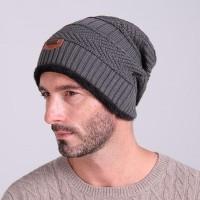 Kupluk Wool Winter Hat Beanie Pria Kupluk - Biru